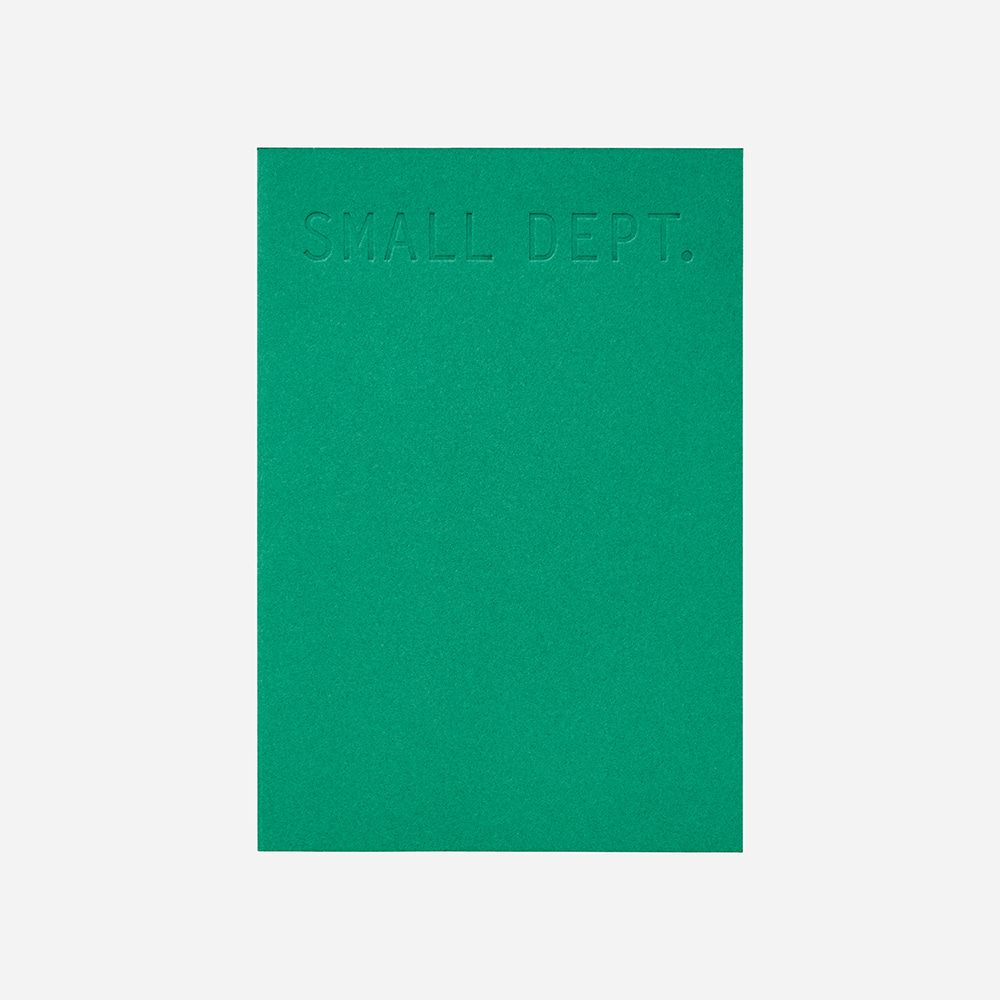 Small dept : planner - Emerald green