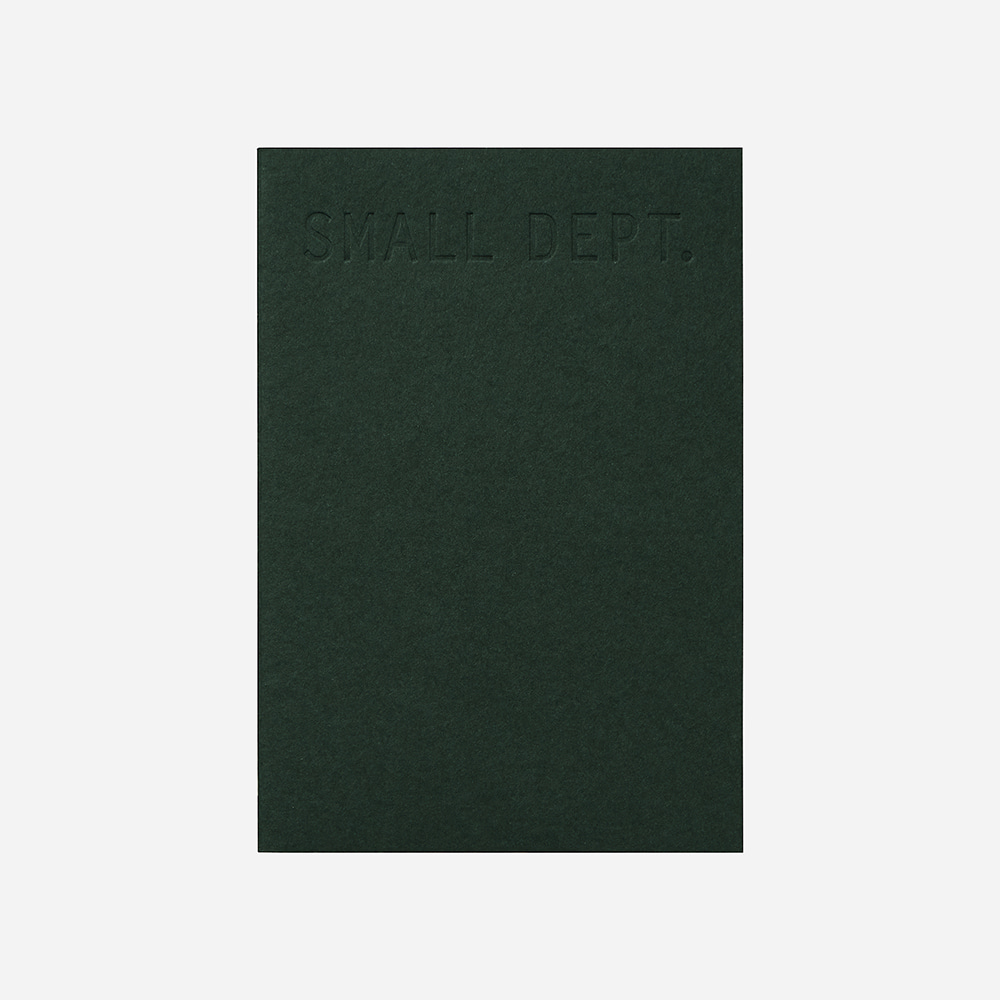 Small dept : sketch - Deep green